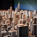 The Chicago Architecture Center will feature this scale model of downtown Chicago as the centerpiece of the first floor gallery. The architecture center is the latest part in the transformation of the Illinois Center. (Jason Marck/WBEZ)
