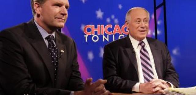 Bill Brady and Pat Quinn's final televised debate. (AP/Nam Y. Huh)