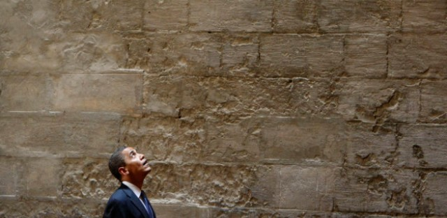 In this June 4, 2009, photo, President Barack Obama tours the Sultan Hassan Mosque in Cairo, Egypt. Obama is scheduled to visit the Islamic Society of Baltimore today.