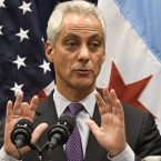 Chicago Mayor Rahm Emanuel speaks during a January news conference. On Sunday he announced the city will sue the federal government in defense of its status as a so-called sanctuary city and against threats to withhold U.S. grant funds.