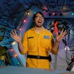 Show poster for 'Mystery Science Theater 3000' reboot on Netflix.