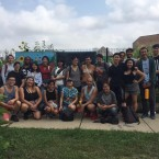 """A photo from a """"Toxic Tour"""" Chicago Asian Americans for Environmental Justice conducted alongside the Little Village Environmental Justice Organization."""