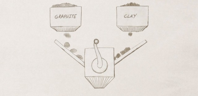 graphite and clay medium
