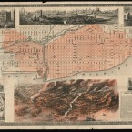 An illustration in Richard's Illustrated shows the districts of Chicago affected by the Great Fire. 1871.