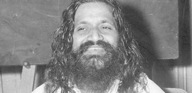 The Maharishi Mahesh Yogi, seen in London in 1961, taught Transcendental Meditation as means to world peace. When Claire Hoffman was a child, she and her mother moved to a utopian community that Maharishi started in Iowa.