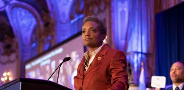 Chicago Mayor-elect Lori Lightfoot, shown here on election night, has not yet shared her plans for City Colleges of Chicago, which serves close to 80,0000 students annually.