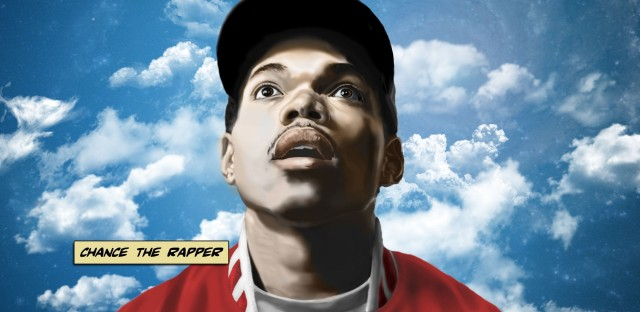 "Cover art for Chance The Rapper's debut mixtape, 10 Day — it was the first in a ""trilogy"" of illustrations for the Chicago artist done by Brandon Breaux."