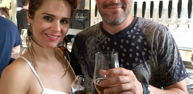 Chana Morrow (left) and Don Ripper are regulars at New District Brewing.