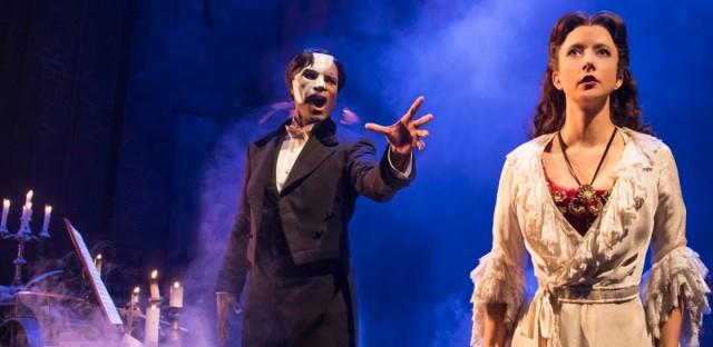 Derrick Davis and Katie Travis star in Phantom of the Opera.