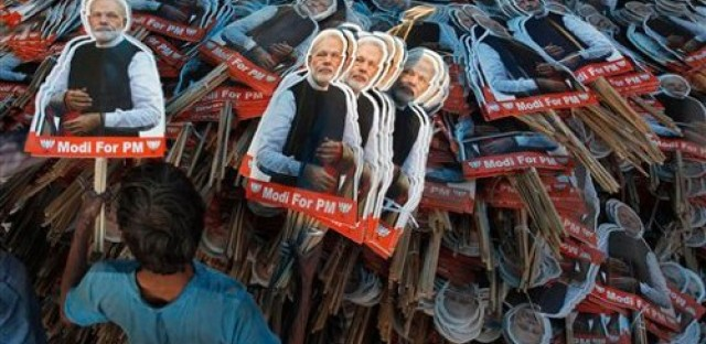 "Narendra Modi, India candidate for prime minister, ""not really"" a bachelor as he claimed"