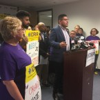 Chicago Ald. Carlos Ramirez-Rosa, 35th Ward, speaks during a Monday morning press conference held by several immigration advocacy groups who've vowed to educate and mobilize immigrant communities in the wake of President Donald Trump's promise of mass deportations in the coming weeks.