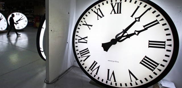 Your obligatory shot of a clock — with this crucial reminder: The ineluctable march of time will pause just for a second as 2016 ends.