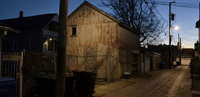 2934 N. Wisner barn/stable: Photo of the Day - December 13, 2012