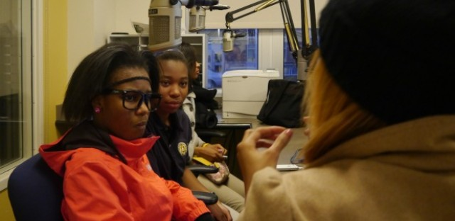 Teens learning radio skills in Chicago police program