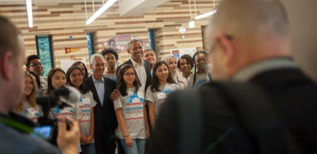 Barack Obama at Solorio High