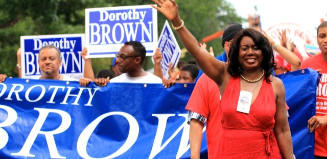 Cook County Clerk of the Circuit Court Dorothy Brown at the Bud Billiken Parade 2015.