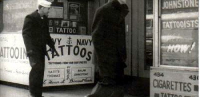 State Street's tattoo shops mainly catered to sailors in the Great Lakes area. .