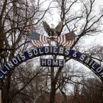 The entrance to the Illinois Veterans Home in Quincy. Legionnaires' disease has contributed to the deaths of 13 residents there and sickened dozens more.