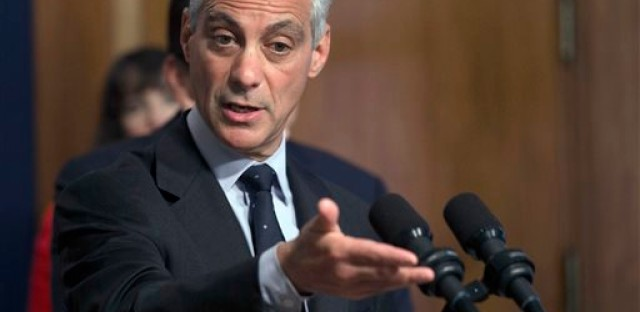 File photo: Chicago Mayor Rahm Emanuel