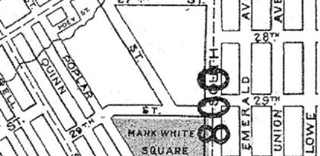 Mark White Square, 1910