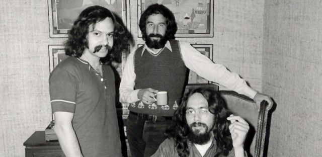 Marin and Tommy Chong (right) signed their first record contract with producer Lou Adler in 1970. In addition to their films, the duo made several comedy albums.