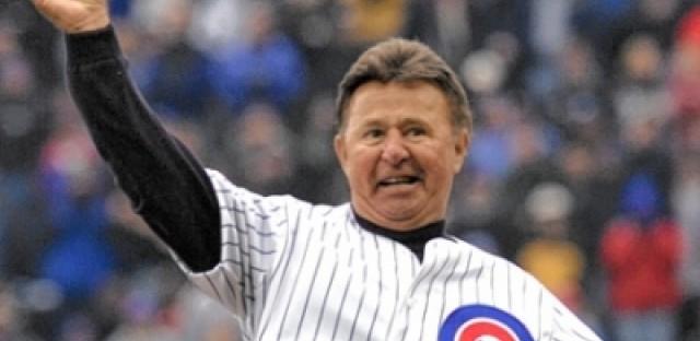 Celebrating Ron Santo's election into Baseball Hall of Fame