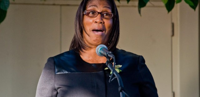 Treasa Wilson, a 55-year-old custodian from the city's West Side, was the 2012 class speaker.