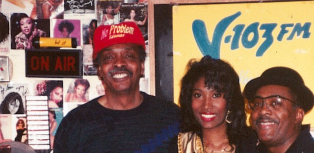 Herb Kent poses for a picture with WBEZ's Richard Steele.