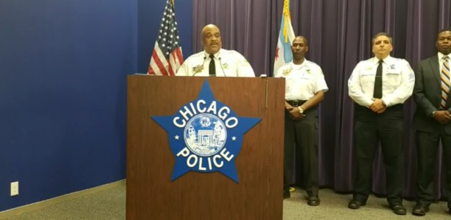 Superintendent Eddie Johnson discussed a police-involved shooting on Sunday.
