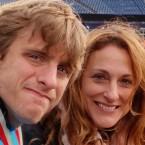 Nat Batchelder and his mother, Susan Senator, in Foxborough, Mass.
