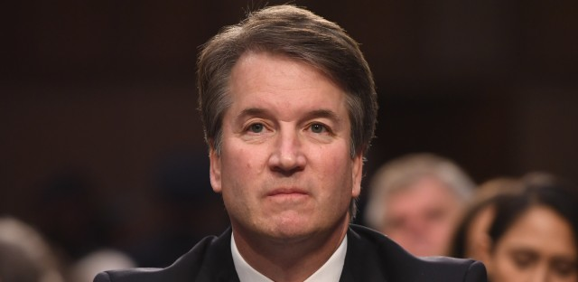 Supreme Court nominee Brett Kavanaugh listens during the first day of his confirmation hearing before the Senate Judiciary Committee on Capitol Hill in Washington, D.C, Tuesday.
