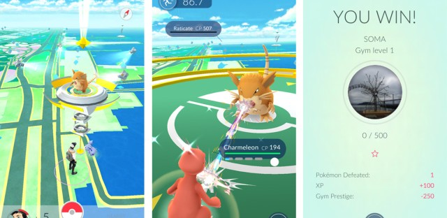 Players in Pokémon Go pledge allegiance to one of three teams and battle for control over Gyms, which are located at notable or historical locations in the real world.