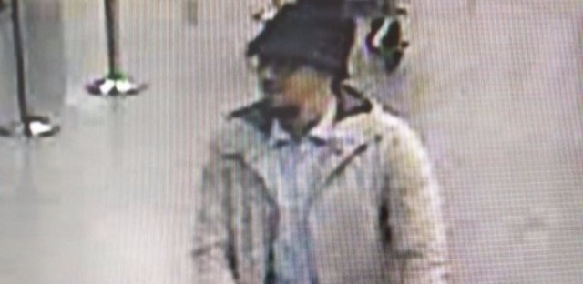 Investigators in Belgium are asking the public's help in identifying this man who was seen at the Brussels airport before this morning's terrorist attack.