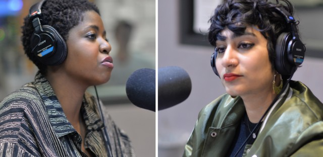 "Sam Bailey (left) and Fatimah Asghar (right) talk about their latest work and their success from the Emmy-nominated web series ""Brown Girls"" on WBEZ's Morning Shift on Thursday, April 4, 2019."