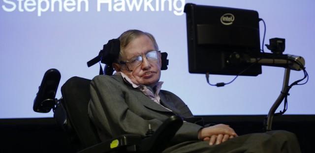 Professor Stephen Hawking in December.
