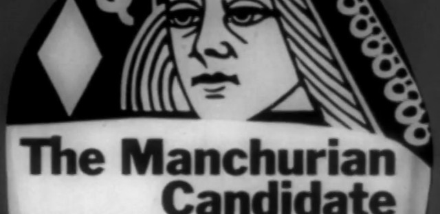 "Logo of the film ""The Manchurian Candidate"" (1962) taken from the film's trailer."