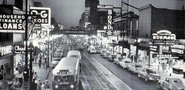 Halsted and 64th streets, 1955
