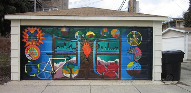 Painted garages of Irving Park: Photo of the Day- March 26, 2013