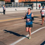 "Michal Kapral ""joggling"" during last weekend's Chicago Marathon."