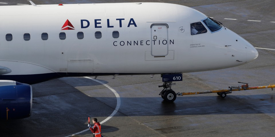 a photo of a Delta airplane
