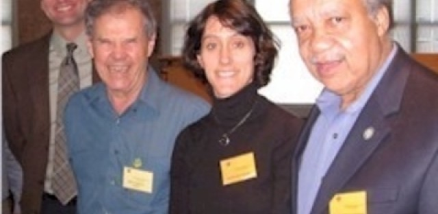 From left to right: James Wolfinger, Bruce Kraig, Margaret Rung, and Christopher Robert Reed