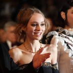 """Actresses Lily-Rose Depp, center, and Soko, right, pose for photographers at the 69th international film festival, Cannes, southern France. Depp and Stephanie """"Soko"""" Sokolinski have a turbulent relationship in their new film """"The Dancer,"""" but off camera, the two actresses are friends enjoying the Cannes Film Festival. The actresses both play dancers in the feature debut by writer-director Stephanie Di Giusto, which screened at the Cannes festival this week."""