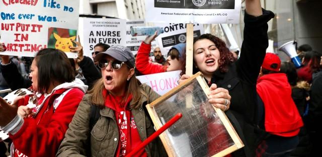 Teachers Strike Rally