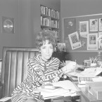 "Helen Gurley Brown in her office at Cosmopolitan magazine in the 1960s .The legendary editor, subject of two new biographies, knew sex sells – and food brings in ad money. She cannily combined them with features like ""After Bed, What? (a light snack for an encore)."""