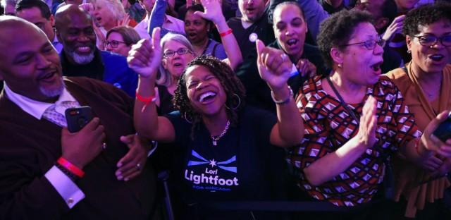 Lori Lightfoot victory celebration