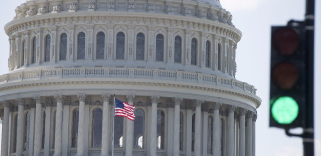 The House easily passed a bill funding the federal government through the end of the fiscal year on Wednesday.