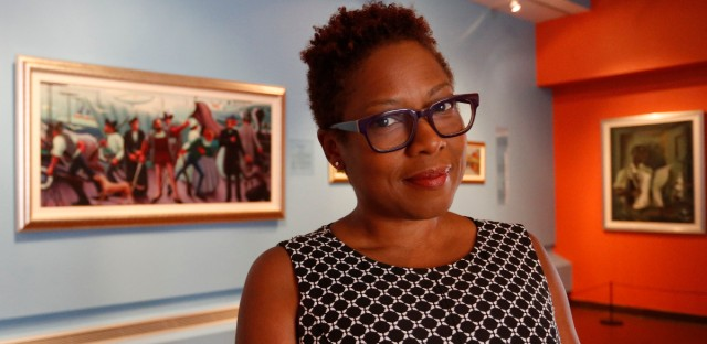 Chief Curator Leslie Guy poses for a portrait inside the DuSable Museum of African American History