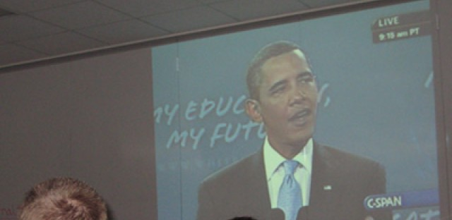 Local Students Hear Obama Speech at School