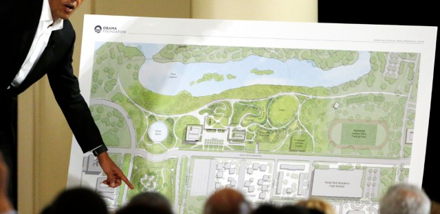 Obama speaks at event about the Obama Presidential Center