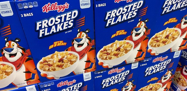 Boxes of Kellogg's Frosted Flakes cereal are seen at a store in Arlington, Va. Kellogg's is facing a boycott organized by Breitbart after the cereal giant decided to pull its advertising from the right-wing website.